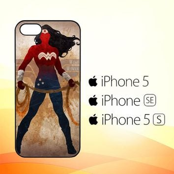 WONDER WOMAN silhouette Y0546  iPhone 5|5S|SE Case