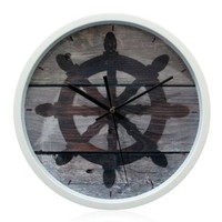 YCC Vintage Rudder Wall Clock Color Gray:Amazon:Home & Kitchen