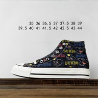 Kuyou Fa19630 Converse All Star Dumbo Is A Co-signed Disney Dumbo High-tops Canvas Shoes