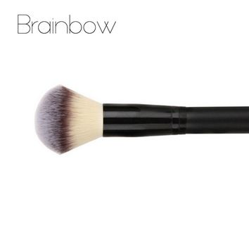 Brainbow 1pc Makeup Brush Powder Blush Brush 3 colors Nylon Hair Cosmetics Makeup Brushes Foundation Make Up Beauty Essential