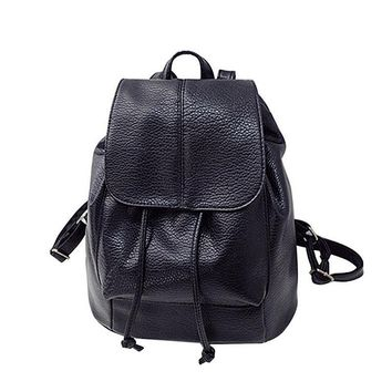 2017 Summer new college wind schoolbag washed leather backpack woman korean tidal fashion leisure travel bag boutique backpacks