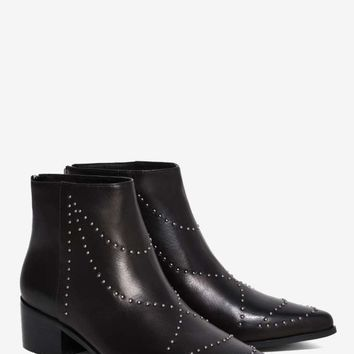 Grey City Wendy Studded Leather Ankle Boot