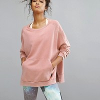 Reebok Studio Oversized Sweatshirt In Pale Pink at asos.com