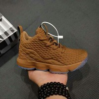 Nike LeBron 15 For Kid Brown Children Shoes - Best Deal Online