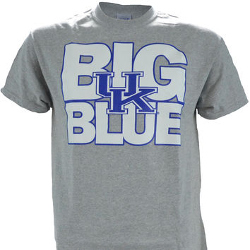 UK Big Blue on a Sport Grey Short Sleeve T Shirt
