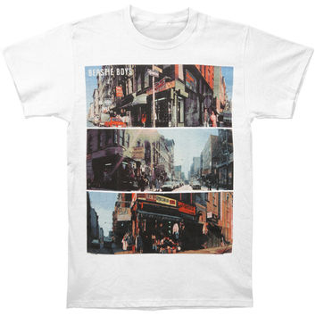 Beastie Boys Men's  City Scenes T-shirt White Rockabilia