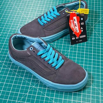 C2H4 X Vans Authentic Grey Blue Sneakers