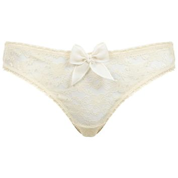 Cream Lace Brief | Missselfridge
