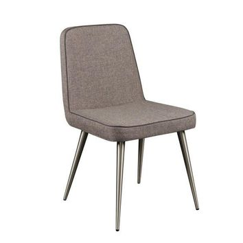 Walcott Side Chair GREY/BRUSHED STEEL - Set of 2