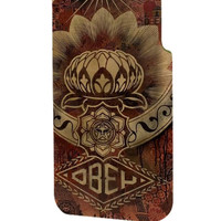 Best 3D Full Wrap Phone Case - Hard (PC) Cover with obey lotus Design