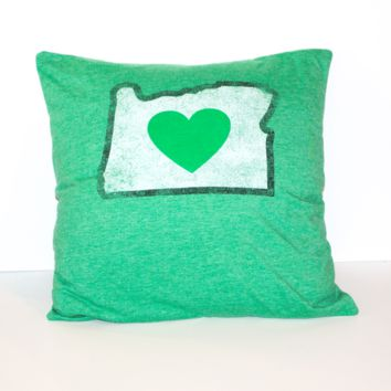 I Heart Oregon Pillow