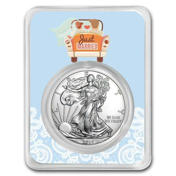 2019 1 oz Silver American Eagle - Just Married Honeymoon