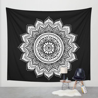 black white mandala,mandalas,mandala,mandala wall tapestry,mandala wall tapestries,mandala design,black,white,mandala wall art,mandala wall