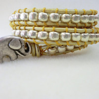 Lucky Elephant multi wrap bracelet