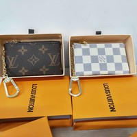 LV Fashion Louis Vuitton Retro Monogram Zipper Key Pouch Clutch Bag Coin Purse Wallet I/A