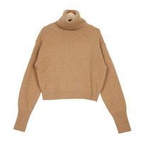 Angora Blend Turtleneck Knit