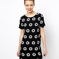 New Look Daisy Print Tunic Dress