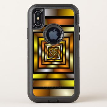 Luminous Tunnel Colorful Graphic Fractal Pattern OtterBox Defender iPhone X Case