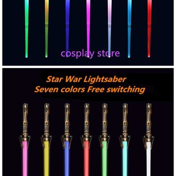 Star Wars Force Episode 1 2 3 4 5 2018 Acousto-Optic Outdoor  Lightsaber Cosplay Props Telescopic Toy Child The Sword laser Outdoors Seven Color Sword AT_72_6