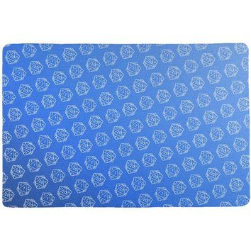 DCCKU3R D20 Gamer Critical Hit and Fumble Blue Pattern All Over Game Dice Mat