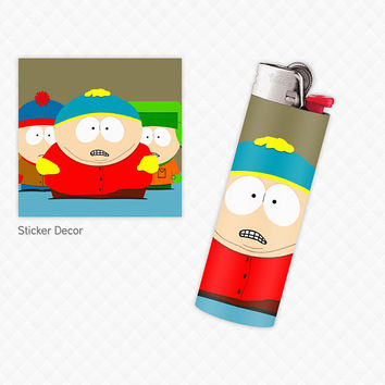 Lighter Stickers for Standard BIC Lighter Size, South Park, Wraps, Skin, Cover