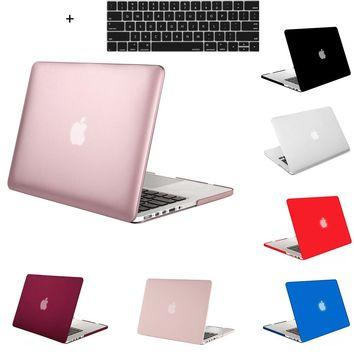 Mosiso Plastic Hard Case for Macbook 12 Air 11 13 Pro 13 15 Retina 2012-2015 Tablet Sleeve Shell Cover +Silicone keyboard cover