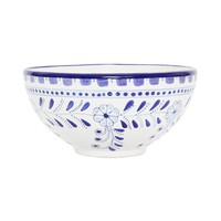 Hand-painted Tunisian Ceramic Serving Bowl, Fair Trade | Blue Floral – The Little Market