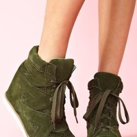 Venice Wedge Sneaker - Green