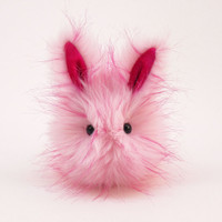 Candy the Pink Fluffy Bunny Rabbit Easter Toy Stuffed Animal Plush- 4x5 Inches Small Toy Size Stocking Stuffer
