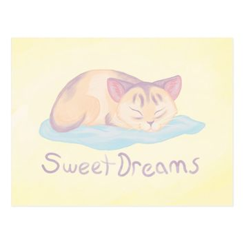 Dreaming Kitten Postcard