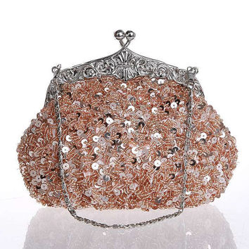 Beaded Bridal bag-Wedding clutch purse-Handbeaded Party Gifts Bridesmaids Purse,Blinbling evening Bags,Wedding Bags,Occasional Bags