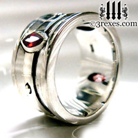 Mens Wedding Ring Gothic Engagement Band Black by 3RexesJewelry