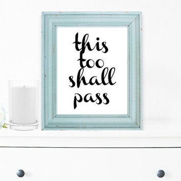 Inspirational Print, Wall Decor, Typography Wall Art, Motivational Print, Inspirational Poster, Teen Gift Ideas, Shabby Chic - PT0031