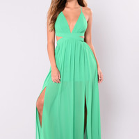 All Summer Long Maxi Dress - Green