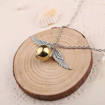 Golden Snitch Necklace _ Harry Potter
