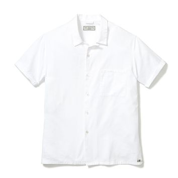 CAMP SHIRT, WHITE OXFORD COTTON