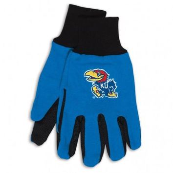 Kansas Jayhawks - Adult Two-Tone Sport Utility Gloves