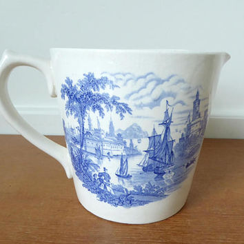 Royal Crownford Arthur Wood Safe Harbour one quart batter bowl, collectible transferware