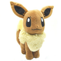 "Details about New EEVEE 7.5"" Pokemon Rare Soft Plush Toy Doll"