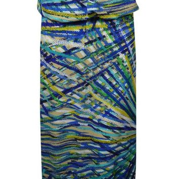 Sangria Women's Multi Plaid Blouson Maxi Dress