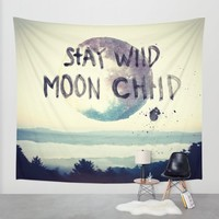 stay wild Wall Tapestry by Lostfog Co.