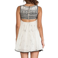 Free People Aztec Bib Dress in Ivory