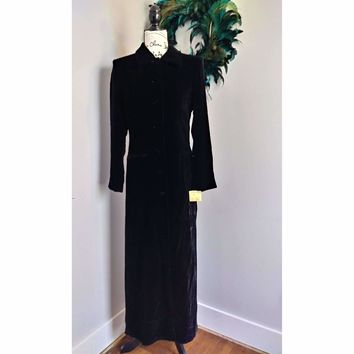 Women's Vintage Ann Tran for Kenar Velvet Evening Coat