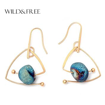 Triangle Shape Dangle Earrings For Women