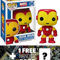 "Iron Man: ~3.75"" Funko POP! x Marvel Universe Vinyl Bobble-Head Figure + 1 FREE Official Marvel Trading Card Bundle [22741]"