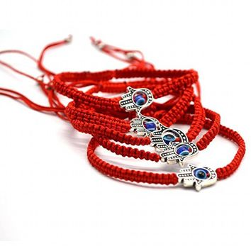 Handmade Bracelet Red Thread Evil Blue Eye