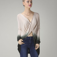 Twisted Ombre Long sleeve top