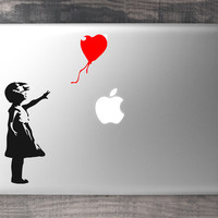 Banksy Red Balloon Girl MacBook Decal