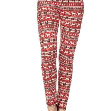 Red Christmas Leggings
