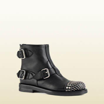 Gucci - rosell studded leather ankle boot 387892A9L001000